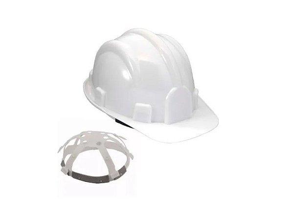 5 Capacete de Segurança Plastcor Branco CA31469