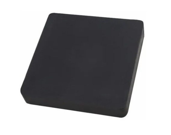 Calço De Borracha Anti Vibração 100x100x25mm 80 Peças