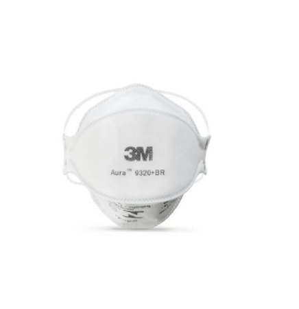 Kit 50 Mascaras 3M PFF-2 Sem Válvula AURA N95 9320+