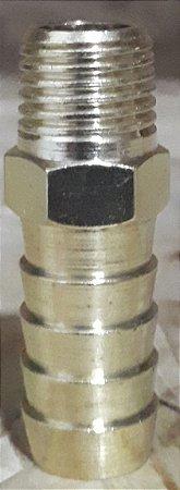 Espigao fixo macho rosca 1/4 X 1/2  Latao LUB 24D-L