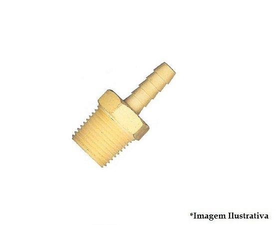Espigao fixo macho rosca 1/2 X 1/2 Latao LUB 26D-L