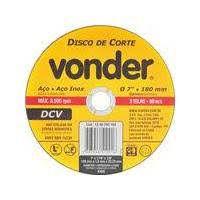 Disco Corte Aco 115,0 x 1,0 x 22,23 BNV02 Vonder 2 Pc