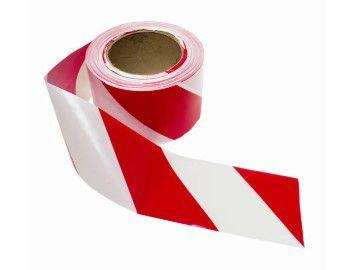 Fita Demarcação Solo 100 X 30 Vermelha/Branca