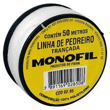 Linha De Pedreiro Trançada 50m Monofil - Multifio