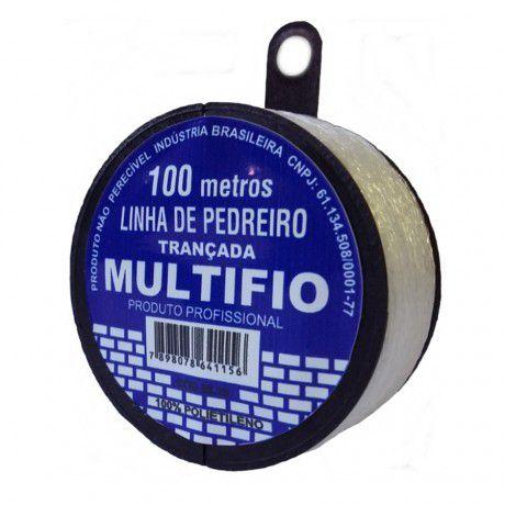 Linha De Pedreiro Trançada 100m Monofil - Multifio
