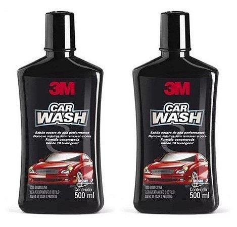 2 Shampoo Automotivo 3m Car Wash 500ml