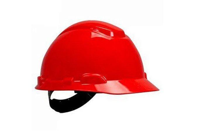 Capacete 3M H-700 HB004571210 Ajuste Fácil Vermelho