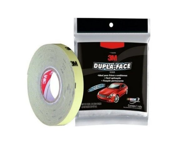 Fita Dupla Face Automotiva 12mm x 3 Metros 3M