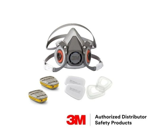 Kit Máscara Respiratória 6200 3m + 6003 + 5n11 + Retentor