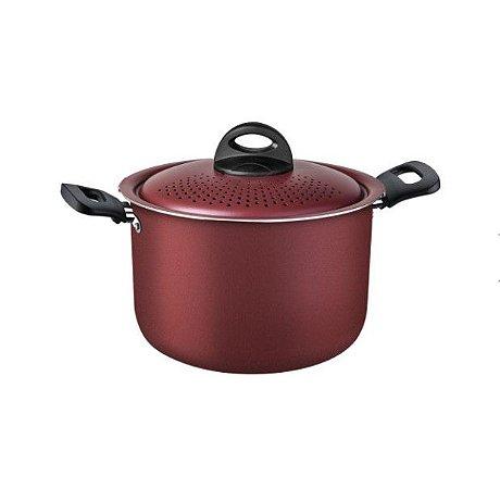 Espagueteira Aluminio 22cm Loreto Vermelho 27817025 Tramontina
