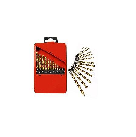 Kit de Brocas Aço Rápido de 1,5 à 6,5 MM com 13 Peças MTX