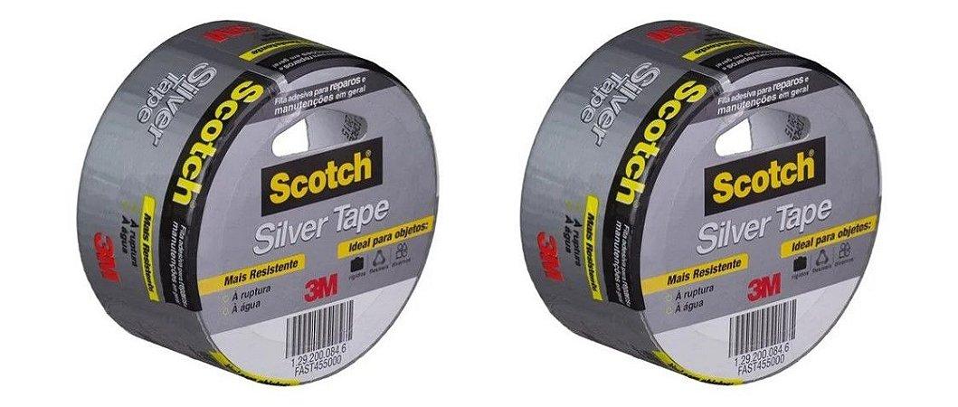 2 Fita Silver Tape 3M 45mm x 5mt HB004557912