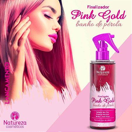 Leave in Finalizador Pink Gold Banho de Pérola 200 ml