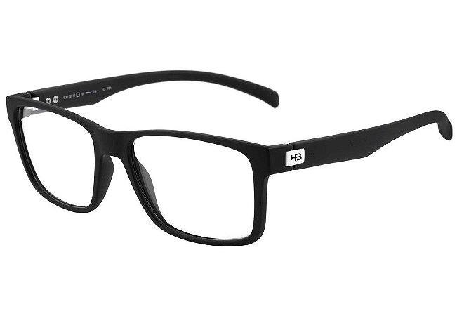 d03594bbb Óculos de Grau HB M93108 Preto Fosco Masculina MATTE BLACK D. WHITE ...
