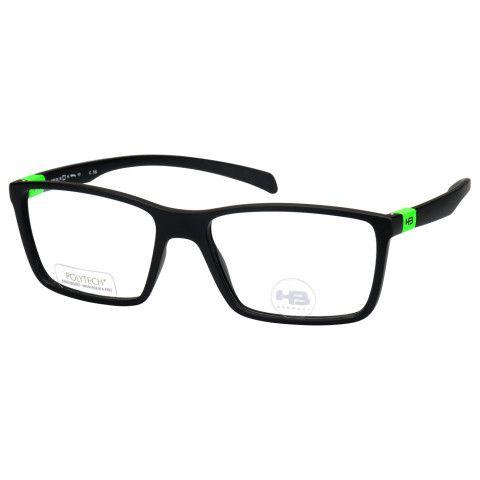 610a2d55e Óculos de Grau HB Polytech M93136 Masculino Preto Fosco - ÓTICAS ...