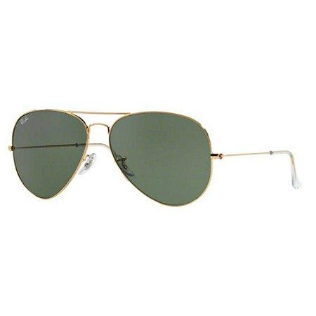 5a551d241 Oculos De Sol Ray Ban Aviador Rb3026l L2846 62mm Dourado Lente Verde G15  TAM.62