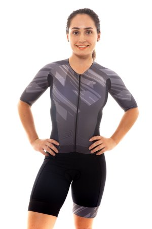 Macaquinho Triathlon Feminino Basic 2020 Cinza