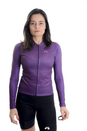 Camisa Ciclismo Feminina Manga Longa Basic Uva 2021
