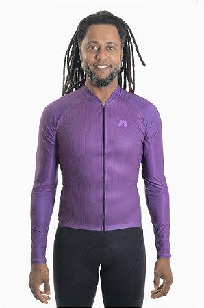 Camisa Ciclismo Masculina Manga Longa Basic Uva 2021