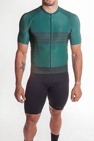 Camisa Ciclismo Masculina Aero 2019 Verde Bandeira