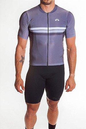 Camisa Ciclismo Masculina Sport Cinza