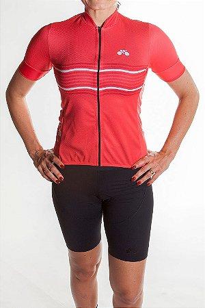 Camisa Ciclismo Feminina 2019 Basic Coral Vermelho