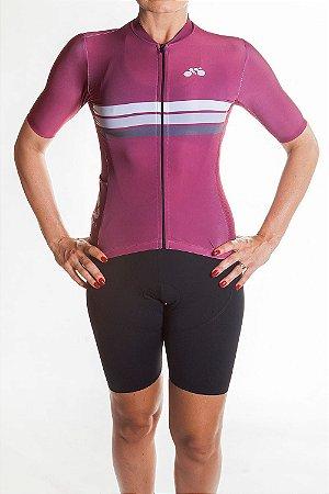 Camisa Ciclismo Feminina Sport Vinho