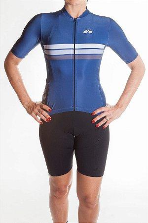 Camisa Ciclismo Feminina Sport Azul Marinho