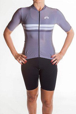 Camisa Ciclismo Feminina Sport Cinza