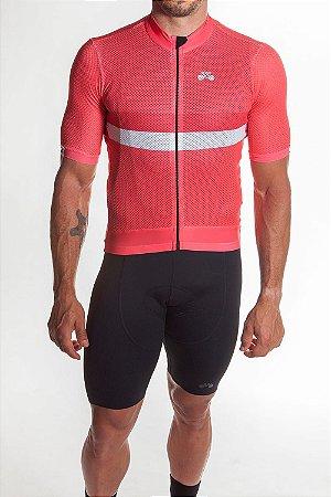 Camisa Ciclismo Masculina Premium Coral