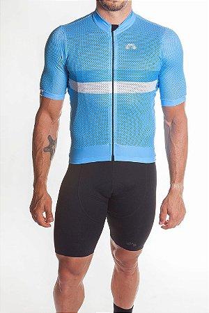 Camisa Ciclismo Masculina Premium Azul 2019