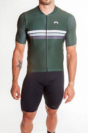 Camisa Ciclismo Masculina Sport Verde Bandeira