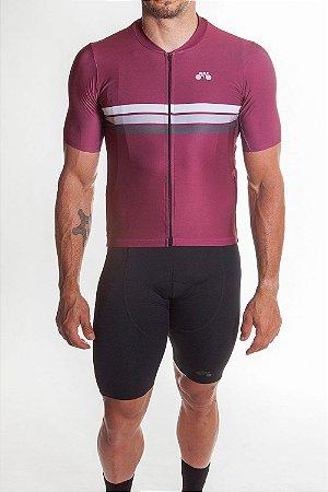 Camisa Ciclismo Masculina Sport Vinho