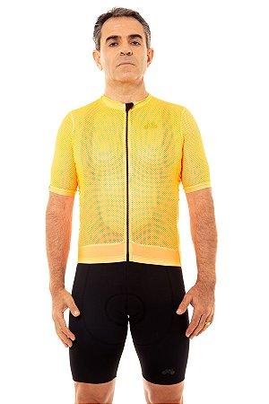 Camisa Ciclismo Masculina 2020 Premium Laranja Neon