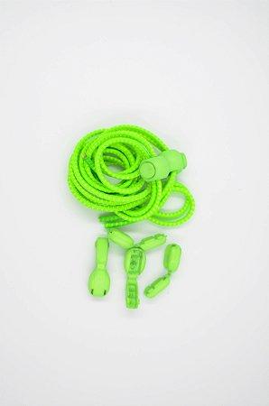 Cadarço Elástico para Corrida Verde Limão