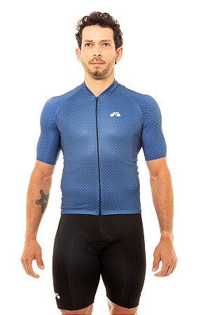 Camisa Ciclismo Masculina 2020 Basic Bolinhas Azul Marinho