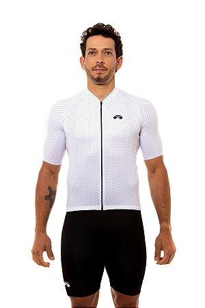Camisa Ciclismo Masculina 2020 Basic Bolinhas Branco