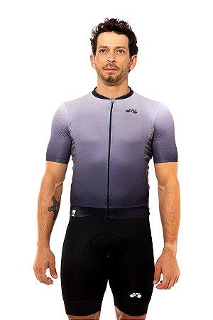 Camisa Ciclismo Masculina 2020 Elite Degradê Cinza