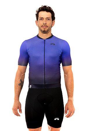 Camisa Ciclismo Masculina 2020 Elite Degradê Roxo