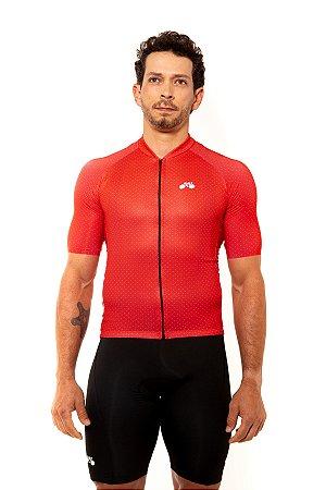 Camisa Ciclismo Masculina 2020 Basic Bolinhas Vermelho