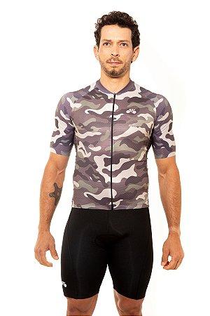 Camisa Ciclismo Masculina 2020 Basic Camuflada Verde
