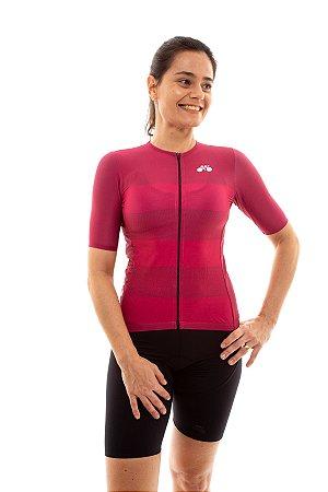 Camisa Ciclismo Feminina 2020 Sport Faixas Vinho