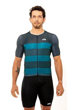 Camisa Ciclismo Masculina 2020 Sport Faixas Verde