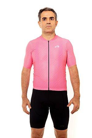 Camisa Ciclismo Masculina 2020 Sport Op Art Rosa