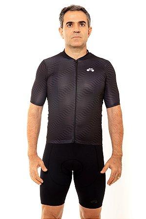 Camisa Ciclismo Masculina 2020 Sport Op Art Preto