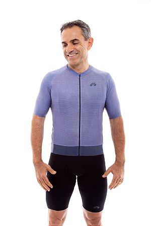 Camisa Ciclismo Masculina 2020 Aero Linho Azul