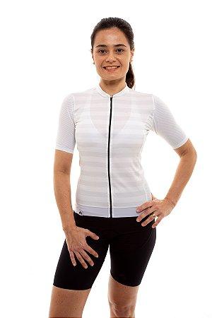 Camisa Ciclismo Feminina 2020 Elite Listras Branco