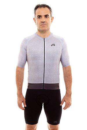 Camisa Ciclismo Masculina 2020 Aero Linho Cinza