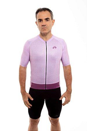 Camisa Ciclismo Masculina 2020 Aero Linho Rosa