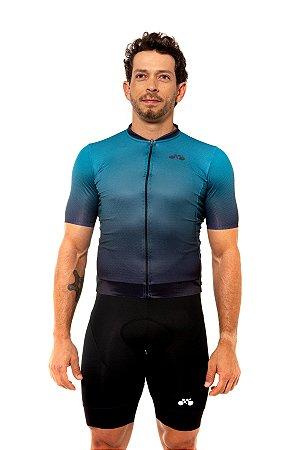 Camisa Ciclismo Masculina 2020 Elite Degradê Verde